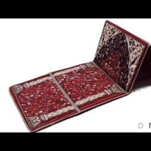 Muslim Prayer Mat Fold Backrest Janamaz 2 in 1